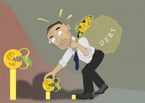 Zbieranie peňazí na dlh